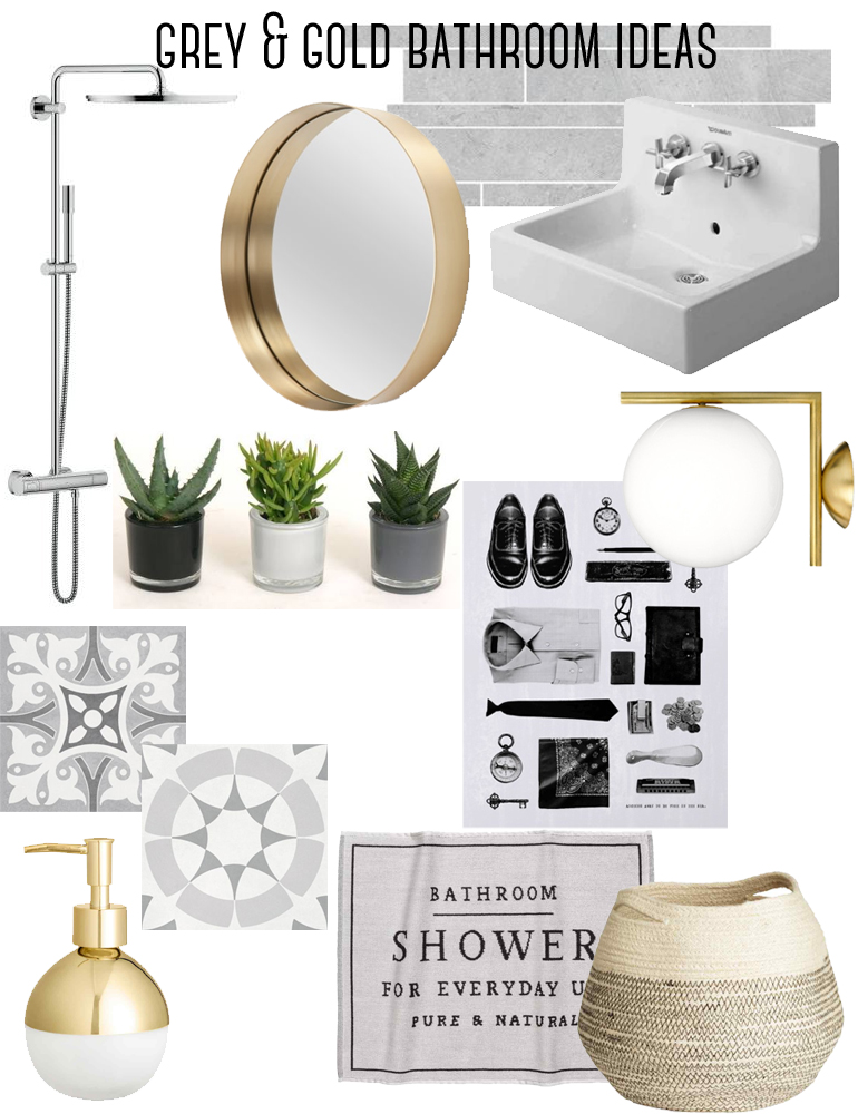 grey and gold bathroom ideas