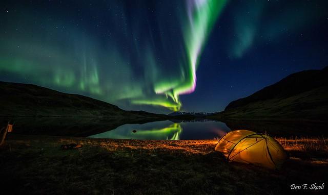Camping in Burfjord