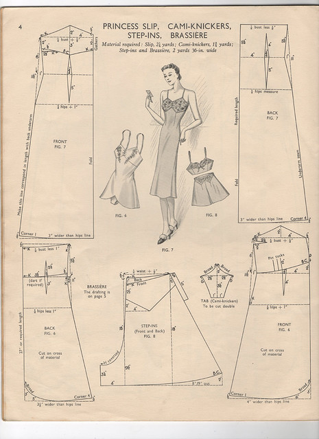 Pattern for a Princess Slip, Camiknickers, Step Ins