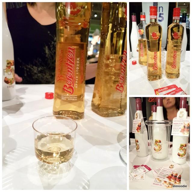 Apple liquor and Sangria