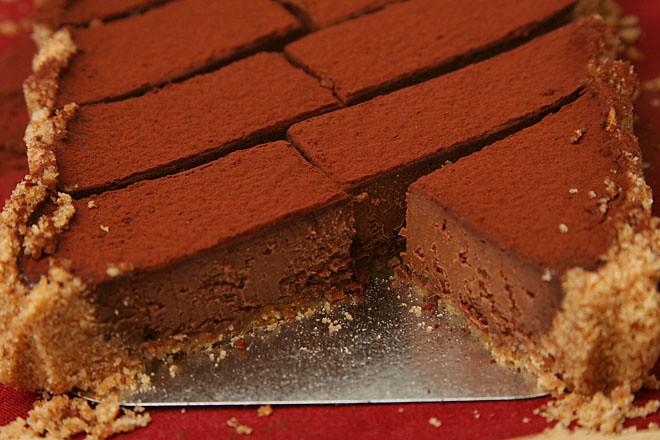 bittersweet chocolate pumpkin tart 7