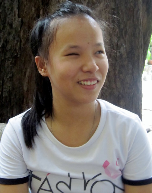 17 years old Tran, now in her second year at the University, has been at Ky Quang Pagoda as far as she can remember (1009x1280)