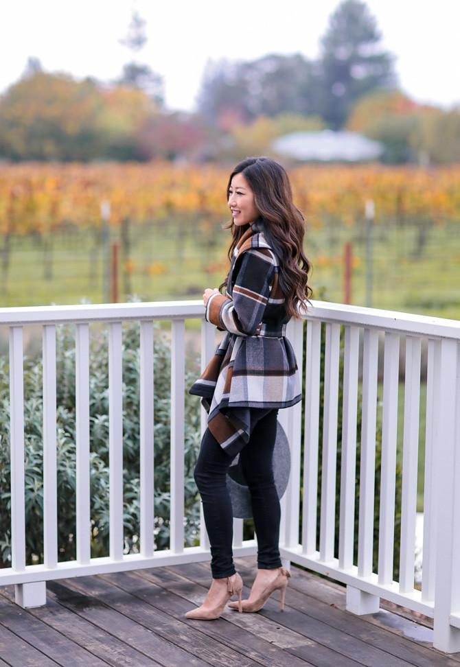 winter wrap coat for petites_napa valley fall getaway