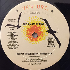 THE SHADES OF LOVE:KEEP IN TOUCH(BODY TO BODY)(LABEL SIDE-A)