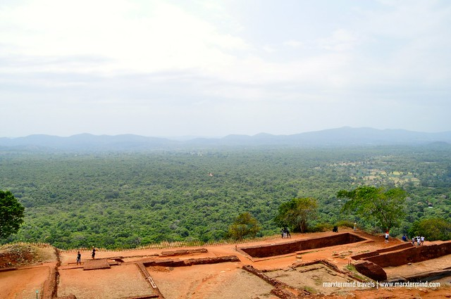 View from the Lion Rock Formation in Sigiriya