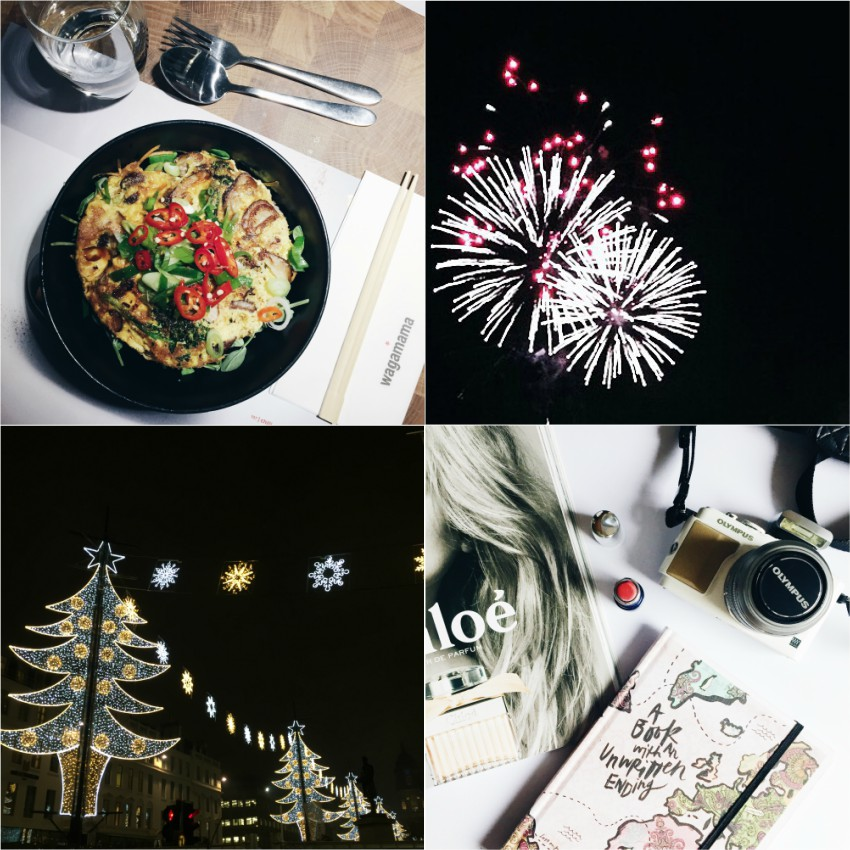 Wagamama, fireworks, Christmas lights, blogging