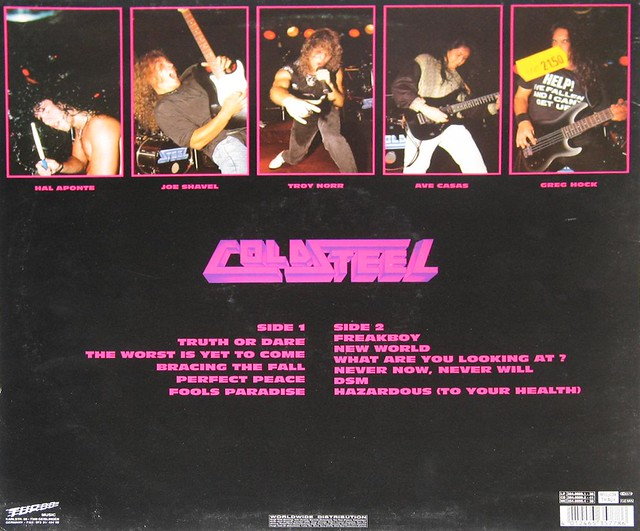 "Cold Steel Freakboy 12"" vinyl"