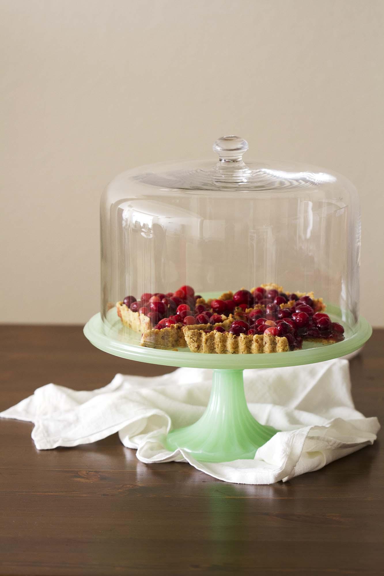 Nut-Crusted Cranberry Tart | girlversusdough.com @girlversusdough