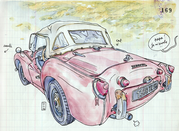 triumph TR3 by day
