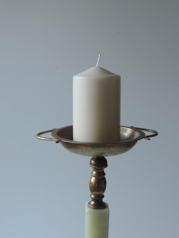 Boden kerzenst nder schale messing marmor onyx ebay for Onyx marmor tisch