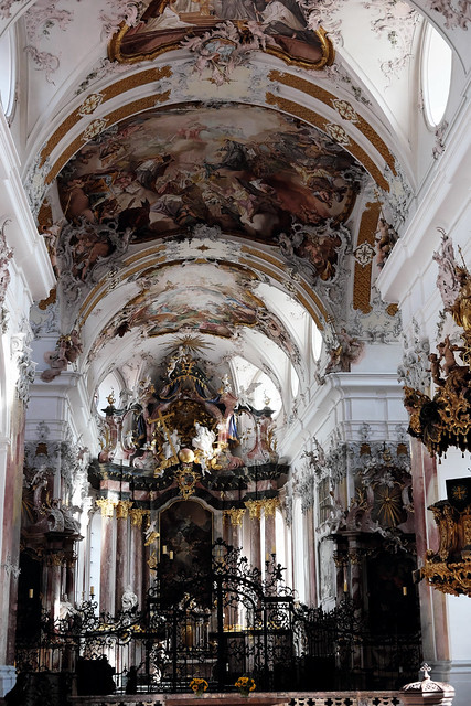 baroque church of Amorbach abbey, Germany