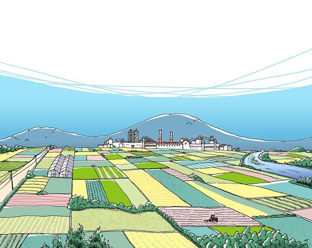 農園と工場