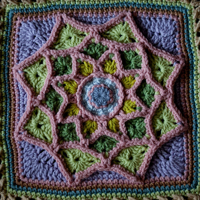 """Sun Catcher"" Afghan Square"