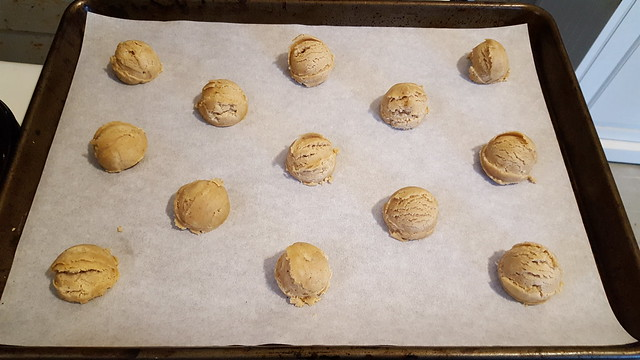 A baker's dozen of scooped dough, ready for the oven, Lemon-Cardamon Sugar Cookies