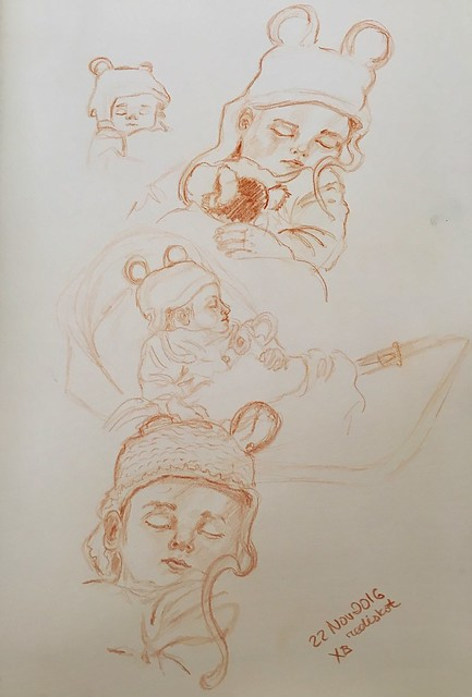 Sleeping baby sketches