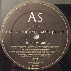 GEROGE MICHAEL・MARY J. BLIGE:AS(LABEL SIDE-B)