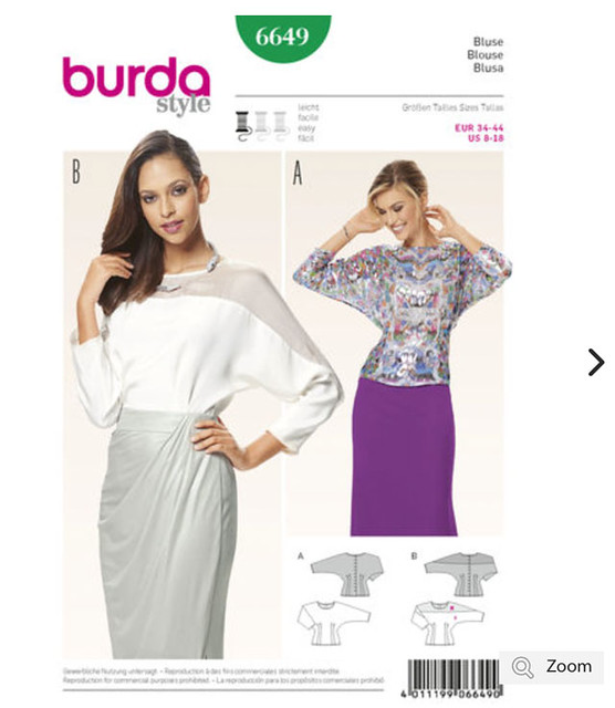 Burda 6649 blouse