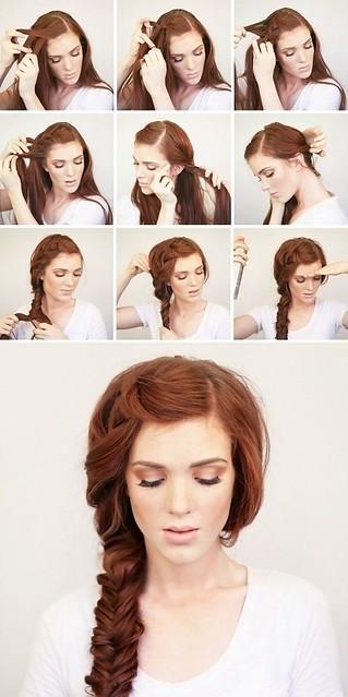 Kiểu tết tóc một bên