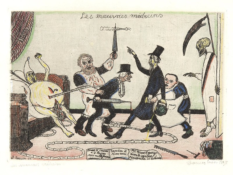 James Ensor - The Bad Doctors, colored, 1895