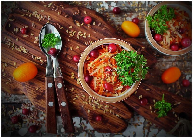 ...carrots turnips flax salad