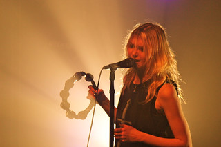 The Pretty Reckless Taylor Momsen yellow tambourine