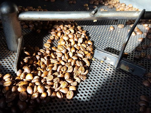 Lots of coffee roasting today. Stop by and see what John has for you!☕❤