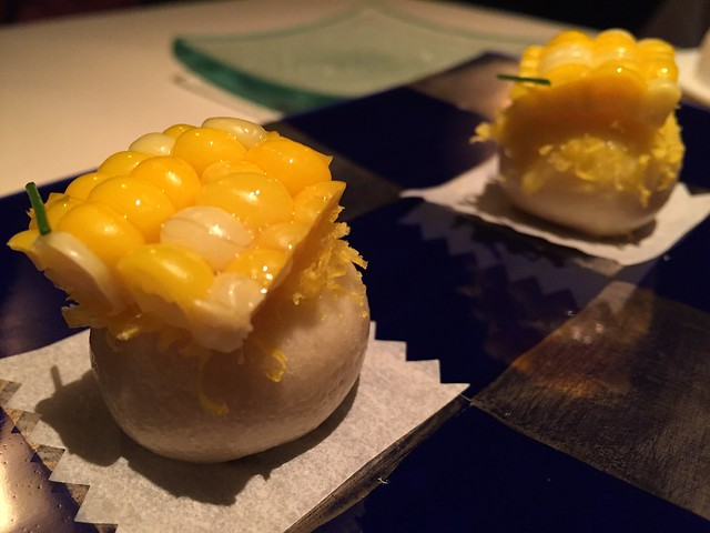 Corn and steamed egg bun