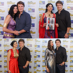 Russian cosplayer Anya photo ops with Nathan Fillion at Comic Con Russia 2016