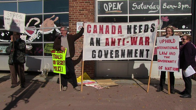 ECAWAR Info Picket: Repeal Bill C-51