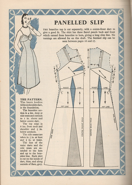 Pattern for a panelled slip