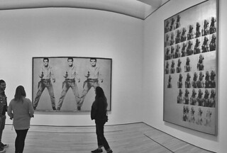 SFMoMA - Andy Warhol Elvis National Velvet bw