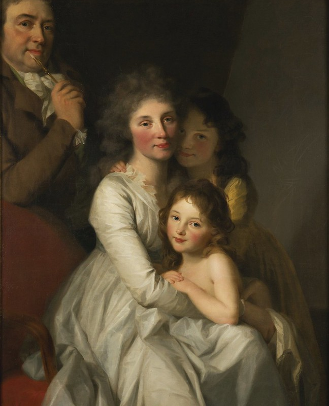 Johann Friedrich August Tischbein - Portrait of the Artist and His Family