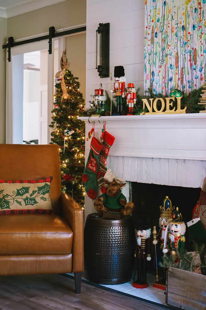Cozy Fireplace |Traditional Modern |Transitional Christmas Living Room Decor | Holiday Decorations