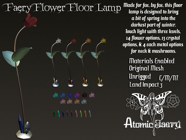 Atomic Faery - Faery Flower Floorlamp