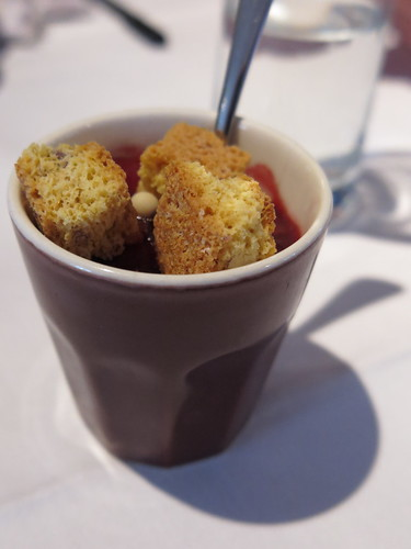 Himbeer Trifle mit Cantuccini (als Nachtisch bei einer Tagung in Berlin)