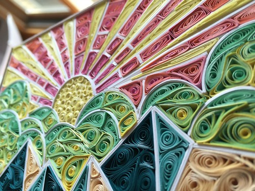 On Edge Card Stock Quilling Paper Strips Used within a Project