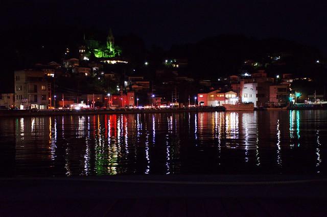 夜の気仙沼港