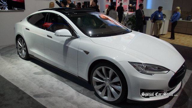 Tesla Model S - AT&T Wireless Connectivity at CES 2014