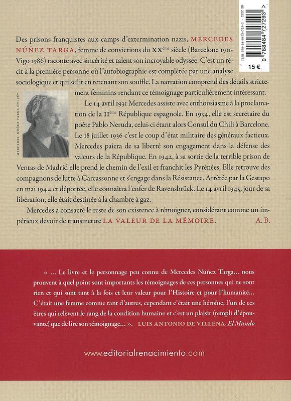 La valeur de la mémoire, D'Argelès a Ravensbrück: Le Parcours d'une Résistante Républicaine Espagnole 2