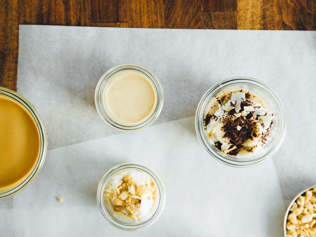 Toasted coconut peanut butter mousse
