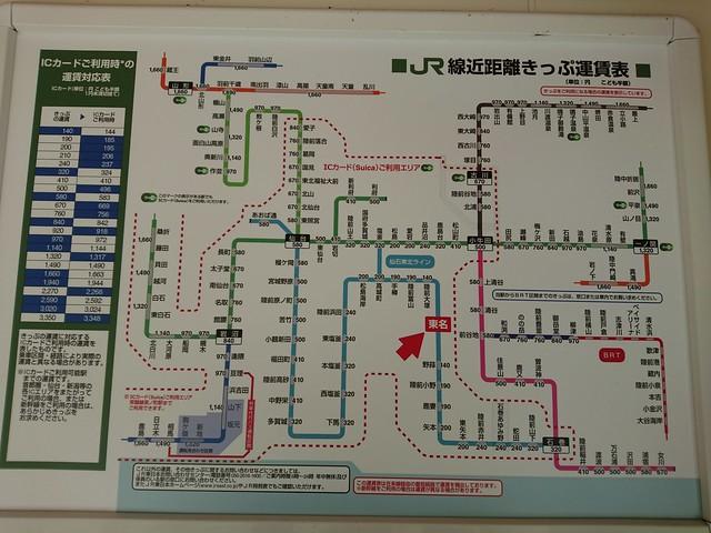 東名駅運賃表