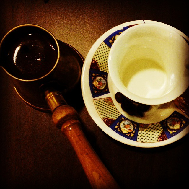 Turkish Coffee Spiced with Cardamom