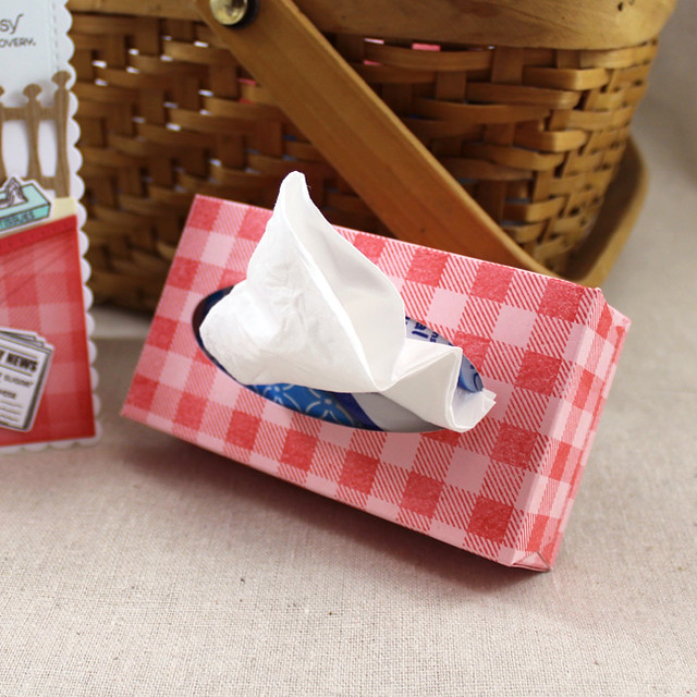 Mini Gingham Tissue Box