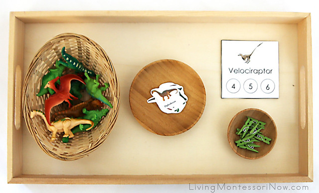 Dinosaur Syllables Tray