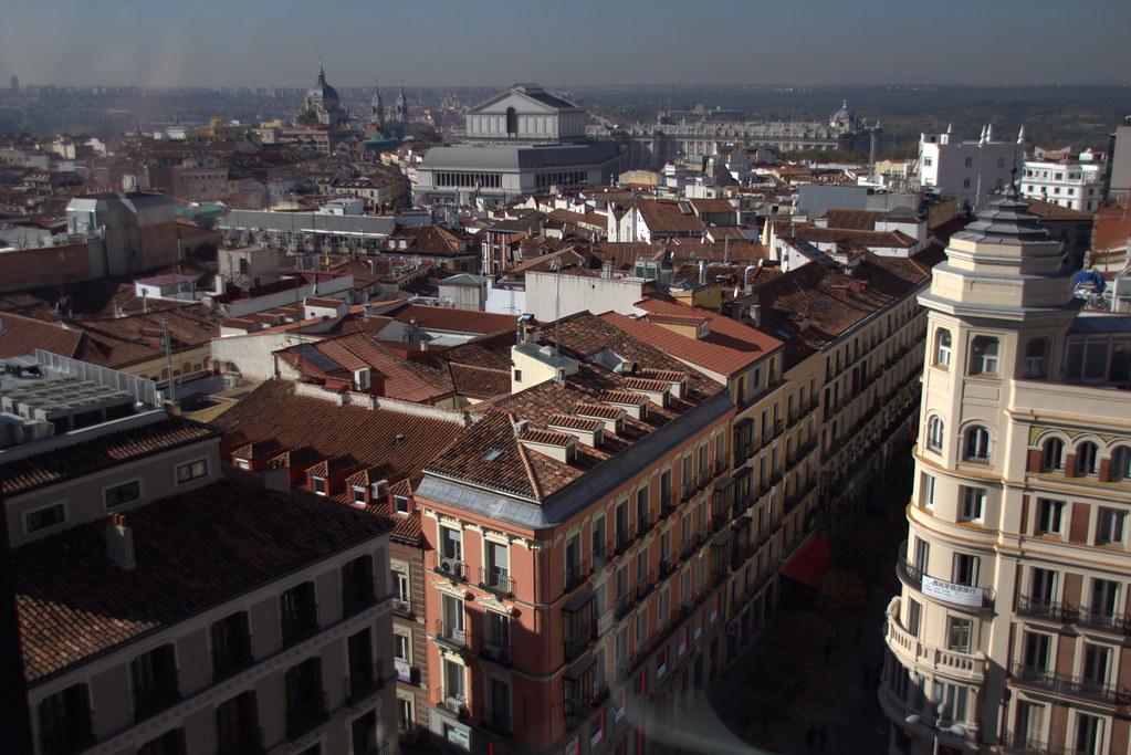 unas vistas parciales sobre Madrid