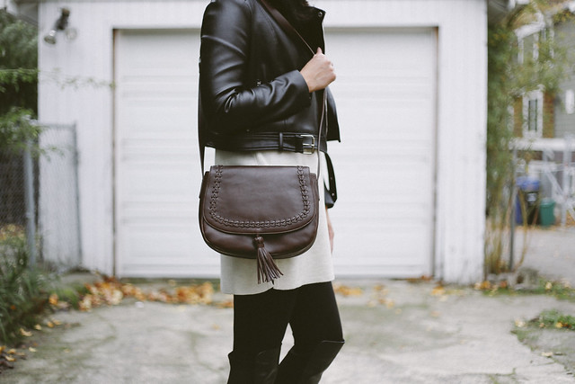 J.Jill leather crossbody purse