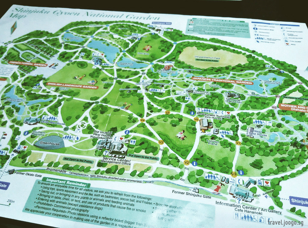 Shinjuku Gyoen Map - travel.joogo.sg