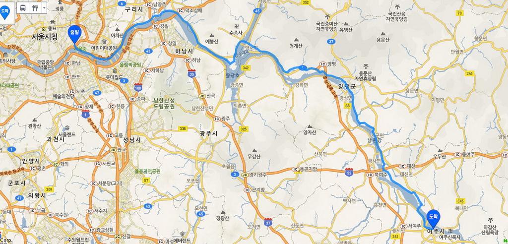 Hangang-Yeoju map