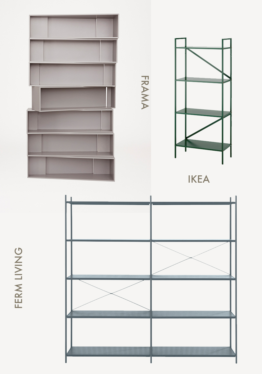 4 minimal shelving systems | AMM blog