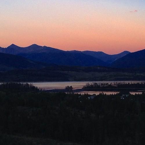 #Sunset over #Dillon Reservoir, #colorado #coloradotography.